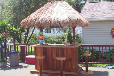Build a Tiki Bar and a Tropical Hut, Plains Ideas: How to Put a Home on backyard fort ideas, backyard sauna ideas, backyard island ideas, backyard basketball court ideas, backyard deck ideas, backyard palapa ideas, backyard bbq pit ideas, backyard tree house ideas,