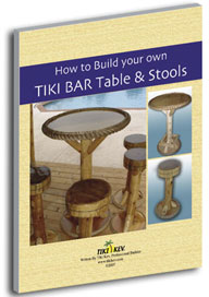 how to build your own tiki bar table and stools