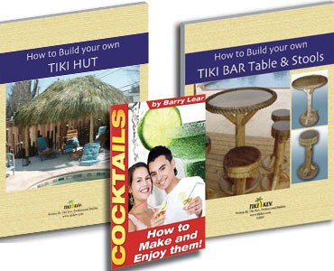 Tiki Hut and Tiki Bar Table and Stools Ebook
