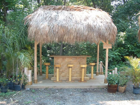 this tiki hut and tiki bar is one of our models this tiki hut is 10u0027 x 6u0027 with a cedar framed roof and sable palms with a 12u0027 - Tiki Hut