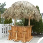 4' x 6' Red Cedar Tiki Bar
