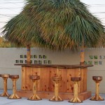 4' x 8' Custom Red Cedar Tiki Bar