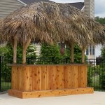 4' x 10' Custom Red Cedar Tiki Bar