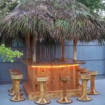 6' x 6' Red Cedar Tiki Bar