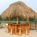 8x8 Red Cedar Tiki Bar
