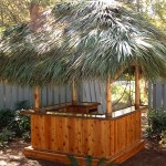 8x8 Custom Red Cedar Tiki Bar