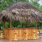 10x10 red cedar tiki bar