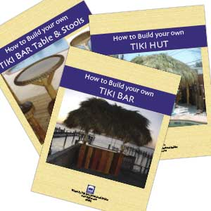 build your own tiki bar tiki hut bar table and stools book combo