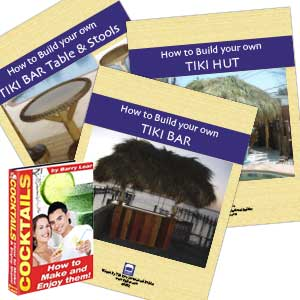 Build Your Own Tiki Bar + Tiki Hut + Bar Table and Stools eBook Combo