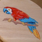 Hand-painted Parrot