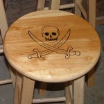 Skull & Swords Bar Stool