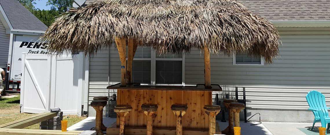 Tiki Bar - Red Cedar Tiki Bar - Custom Tiki Bars For Sale