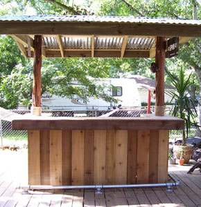 Do it yourself photo gallery tikikev for Build a patio bar