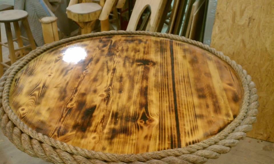 Rustic Themed Tiki Bar Table Tikikev